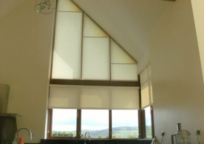Pleated Shaped Blinds fitted onto an Apex Window