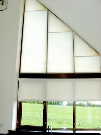 Shaped Apex Pleated Blinds in Tipperary