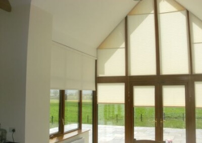 Shaped Pleated Blinds Ireland