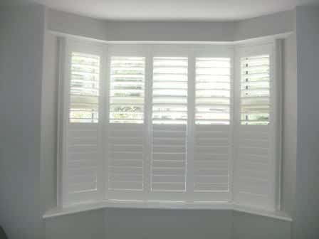 Bay Window Shutters Hidden Divider Bar