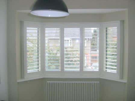 White Bay Window Plantation Shutter fitted in Blessington, Wicklow.