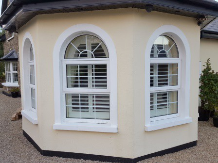 Arched Window Shutters Fitted In Carlow Signature Blinds And Shutters