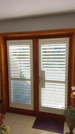 french door shutters open louvres