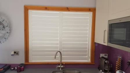 shutter fitted in a kitchen