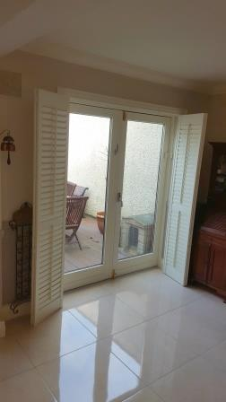 shutters pulled back