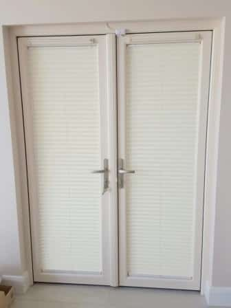 2 pleated blinds on french doors dublin & Shutters Pleated Blinds and Silhouettes Blinds fitted in ... pezcame.com