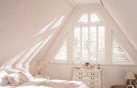Window Blinds White triangular shutter