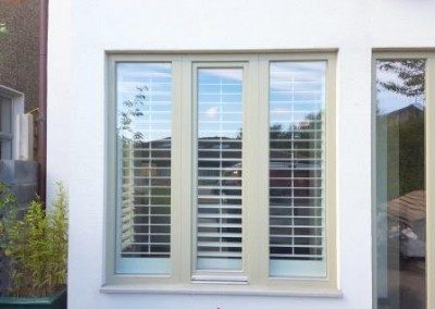 exterior view of shutters fitted in bar7