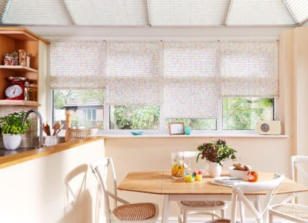 kitchen pleated blinds