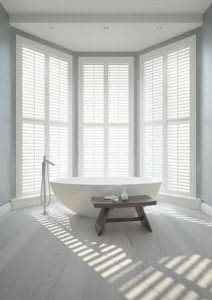 Shutter Materials PVC Vienna Shutters Bathroom