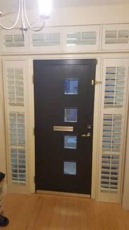 Shutters fitted onto Tilt and Turn Window's in Bellarmine Dublin 18.