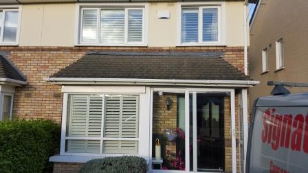 outside view of shutters fitted in swords