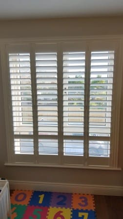plantation shutters with low divider bar drumcondra