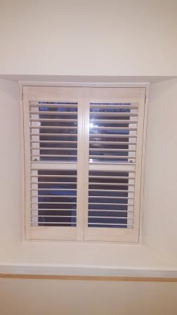 Pine White Wood Stained Shutters fitted in Westmanstown, Dublin 15