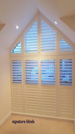 triangular shutters dublin 3 with hidden tilt rods