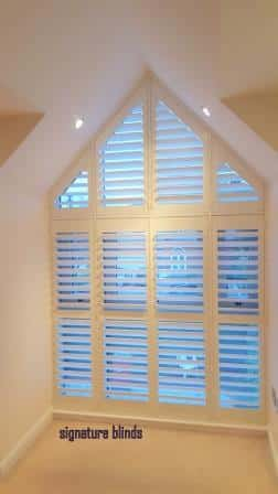 Plantation Triangular Shutters fitted in Clontarf