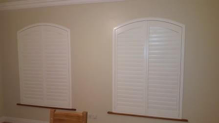 shaped irish shutters