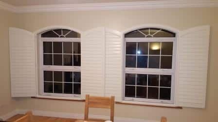 shaped shutters in a kitchen