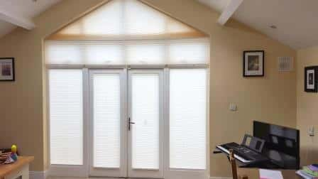 Apex shaped blinds fitted in Luttrellstown