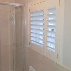 Plantation Shutters fitted into a Bathroom in Castleknock