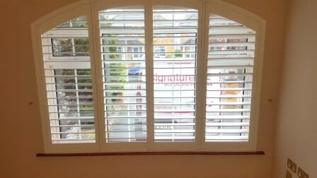 Arched Shutters fitted in Whitehall Dublin 3