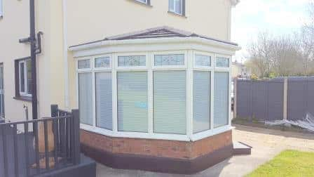 Pleated Blinds are an ideal shading solution for sunrooms and conservatories.