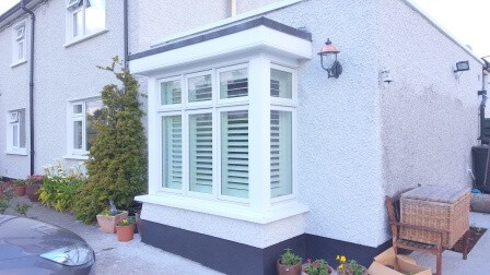 This Bay Window In Dunlaoghaire Was Fitted With Shutters