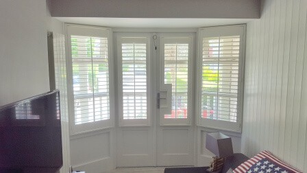 Silk White Shutters installed in Clontarf