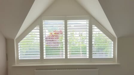 Shaped Triangular Shutters fitted in Sandyford