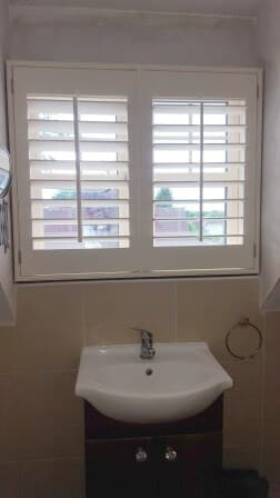 White shutters were recently fitted in clondalkin dublin 22 for Best bathrooms dublin