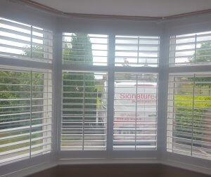 Bay Window Plantation Shutters fitted in Dundalk