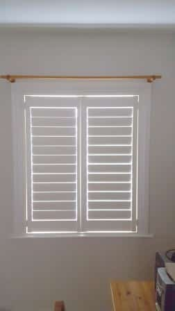 Bedroom Shutters closed