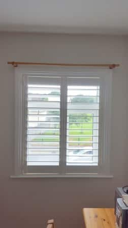 Silk White Coloured Plantation Shutters Were Fitted In