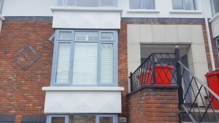 Exterior View of Bay Window Shutter in Rathmines