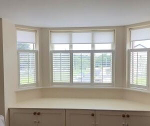 Cafe Style Shutters with Roller Blinds