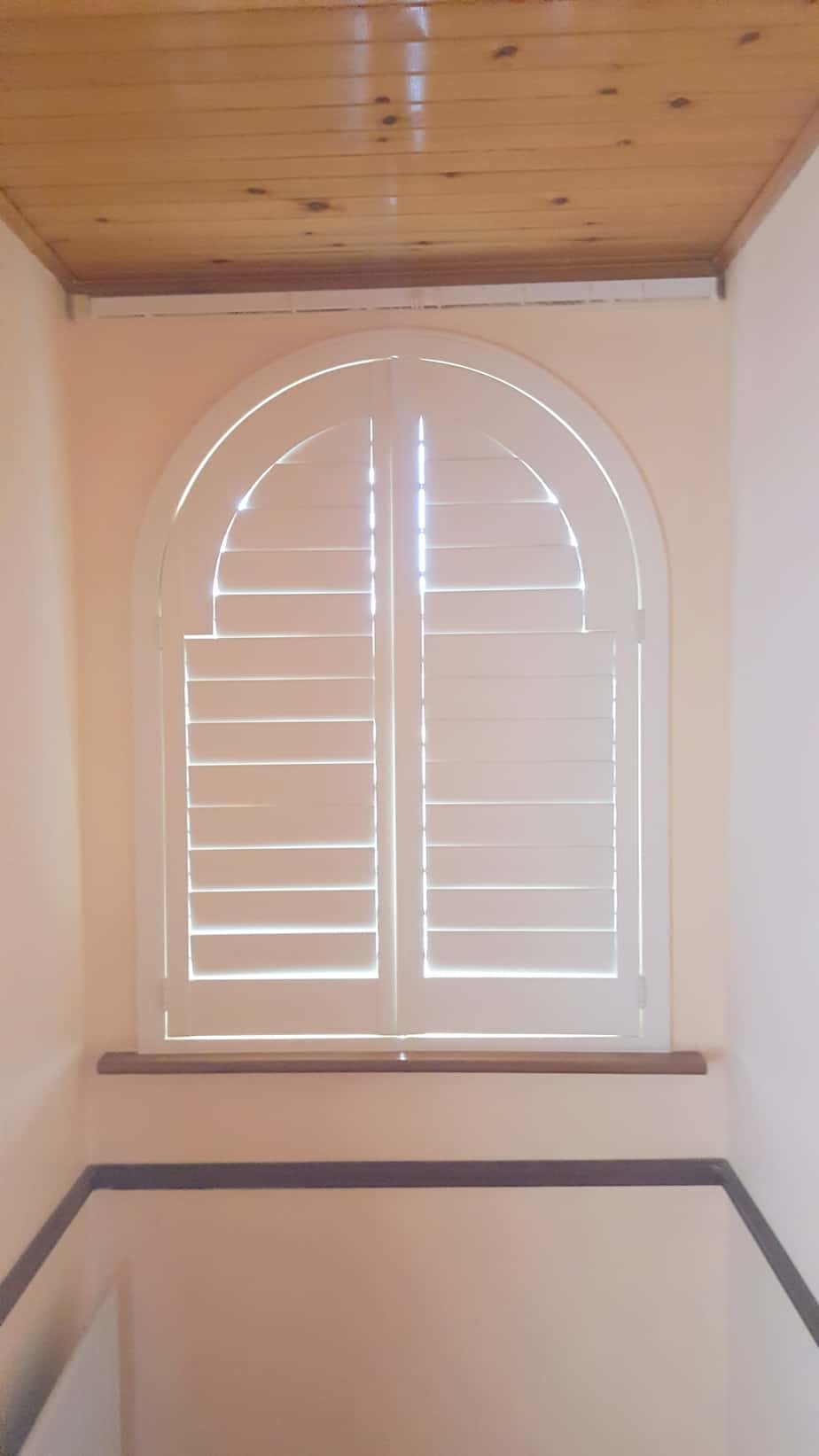 White Arched Shutters Closed Kildare