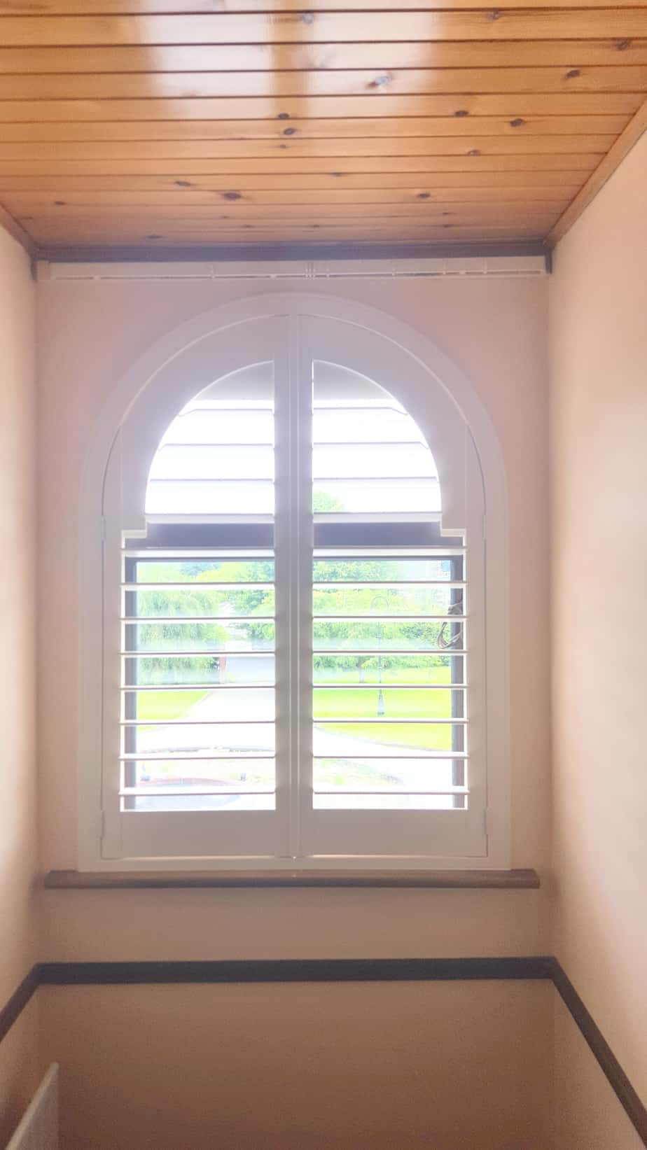 White Arched Shutters Kildare
