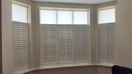 cafestyle shutters with roller blinds fitted in dublin 18