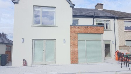 Exterior View of Pleated Window Blinds pulled down in Blanchardstown Dublin 15