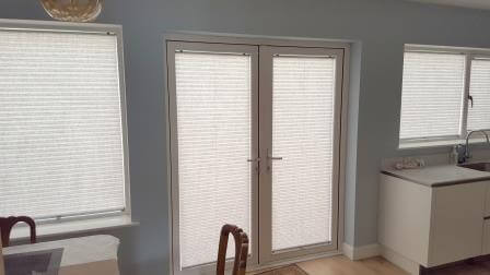 Pleated Blinds Pulled Down Fitted In Sutton