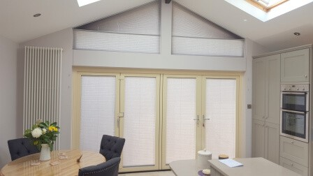 Shaped Blinds fitted in Terenure