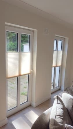 Pleated Multi Function Blinds installed in an Apartment in Rathfarnham.