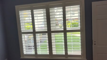 Large Plantation Shutter Was Fitted To A Large Glazing