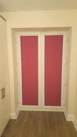 Pink Pleated Blinds fitted in Bracken Park