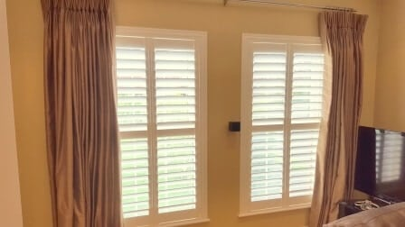 Large Plantation Shutter's fitted to a large glazing area in Ratoath