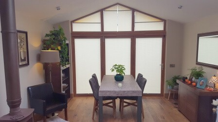 Apex Blinds fitted into a large glazing area in Maynooth