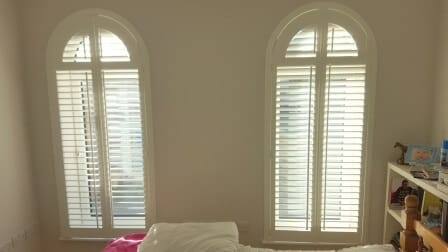 Arched Bedroom Shutters fitted in Kildare