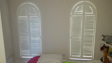 Arched Shutters fitted in Kildare
