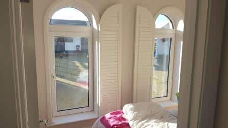 Arched Shutters open in Kildare