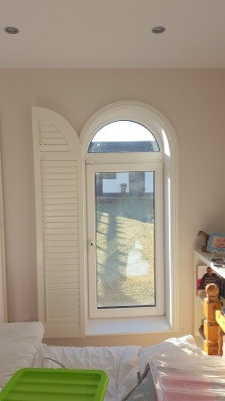 Bedroom Arched Shutter in Kildare